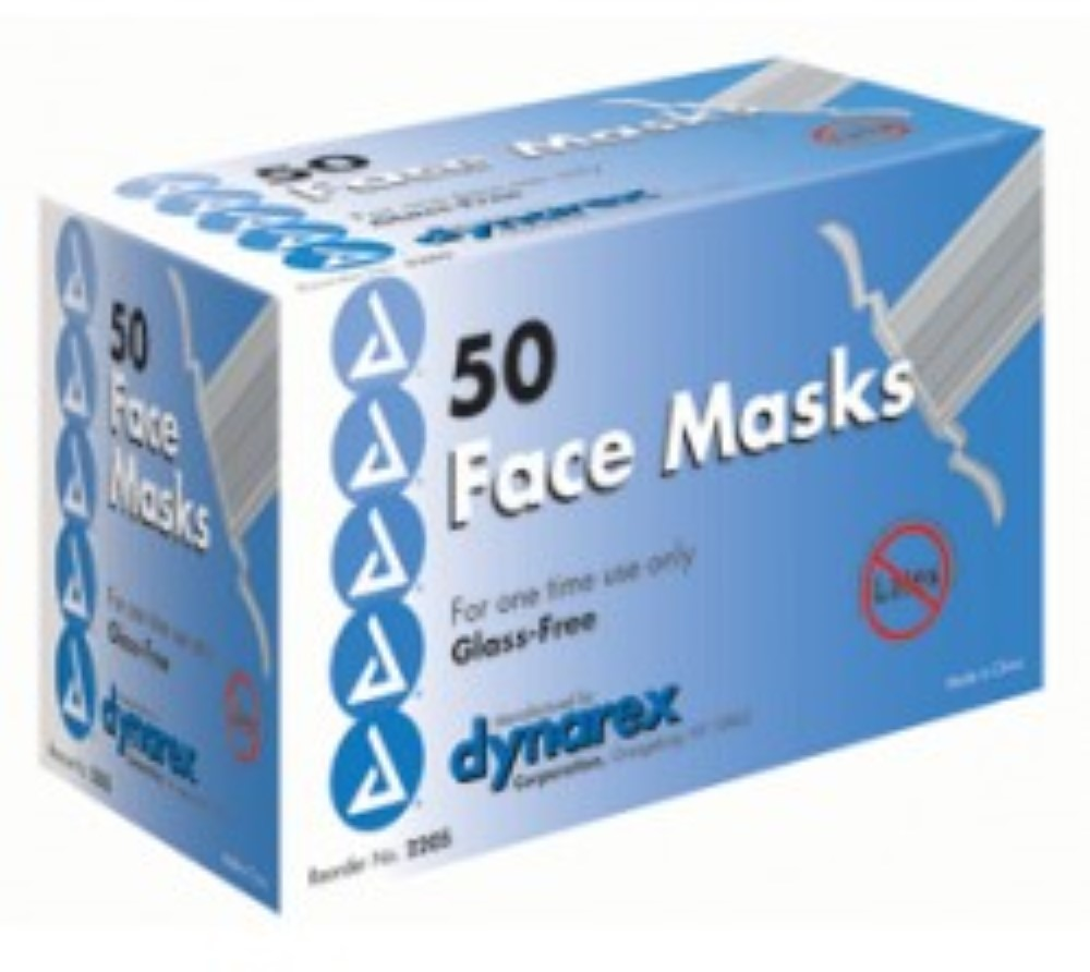 Dynarex Free Surgical Face Mask with Tie-On 50 ea (Pack of 6) by