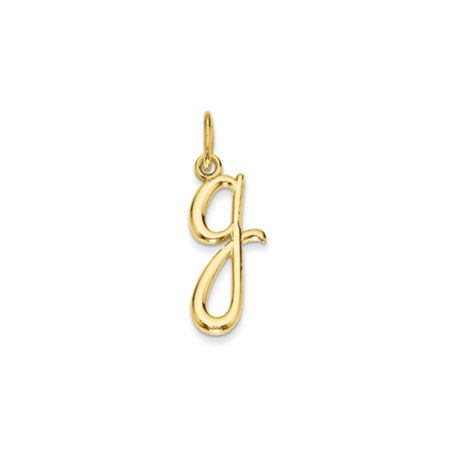 14k Yellow Gold, Claire Collection Mini Lower Case Initial G Charm