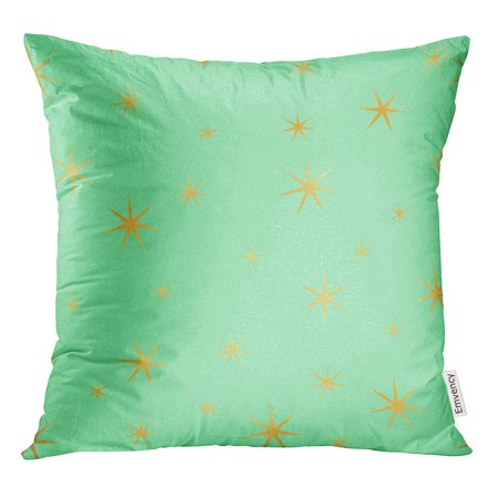 STOAG Black Abstract Green and Gold Stars Bubble Confetti Dot Throw Pillowcase Cushion Case Cover 16x16 inch ()