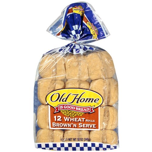 Old Home: Wheat Brown'n Serve Rolls, 12 Oz