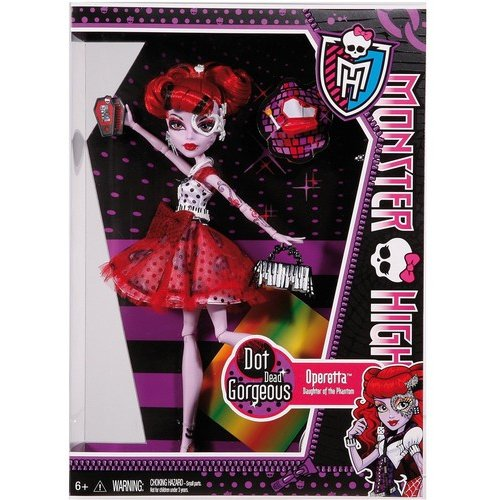 Monster High Dot-Dead Gorgeous Party Doll, Operetta