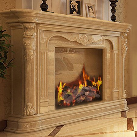 9pcs Ceramic Wood Gas Log Set Fireplace Imitation Wood
