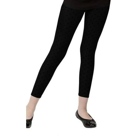 MeMoi Girls Fleece Lined Leggings | Buy Fleece Footless Tights from MeMoi Small / Black MKB 346