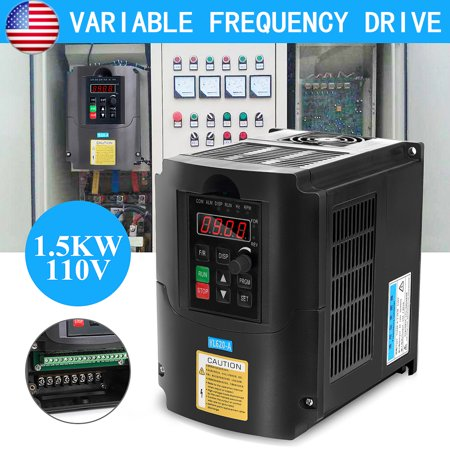 110V 1.5KW VARIABLE FREQUENCY DRIVE INVERTER VFD Single To 3 Phase