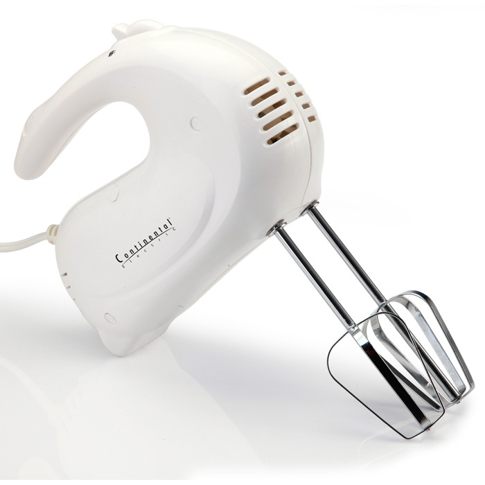 Continental Electric 150w Hand Mixer 7 Speed With Dough Hooks - 150 W (ce22801)
