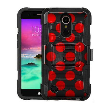 Harmony Rod - LG Harmony Armor Hybrid Case - Red Polka Dots