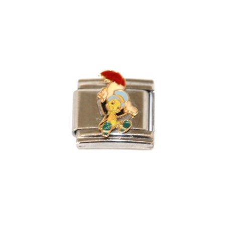 Disney Piglet Jewelry - ITALIAN CHARM WALT DISNEY JIMINEY CRICKET STAINLESS 9MM BRACELET