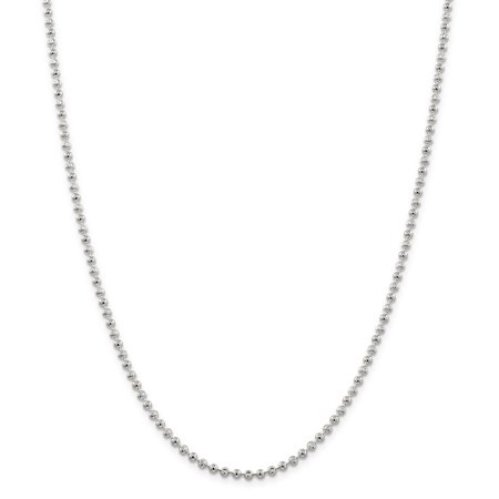 925 Sterling Silver 3mm Bead Chain Anklet - image 5 de 5