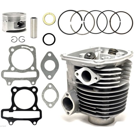 150cc GY6 Cylinder & Head 57.4mm Piston Gasket Assembly Kit ATV Moped Scooter Go