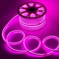 WYZworks Pink Flexible Waterproof Soft Double Side LED Neon Rope Light Strip Bar 150FT