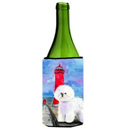 Carolines Treasures SS8891LITERK Lighthouse with Bichon Frise Wine Bottle   Hugger - image 1 of 1