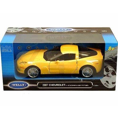 WELLY 1:24 W/B 2007 CHEVROLET CORVETTE DIECAST CAR MODEL 22504W-YL
