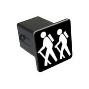"""Hiking, Hikers 2"""" Tow Trailer Hitch Cover Plug Insert"""