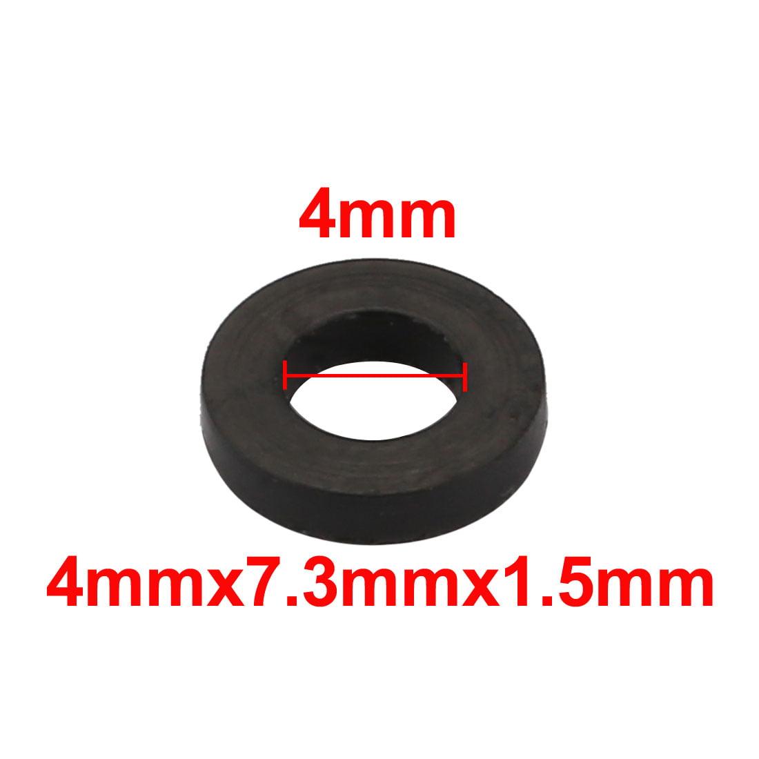 10Pcs rondelle plate ronde caoutchouc mesures assortie 4x7.3x1.5mm - image 1 de 2