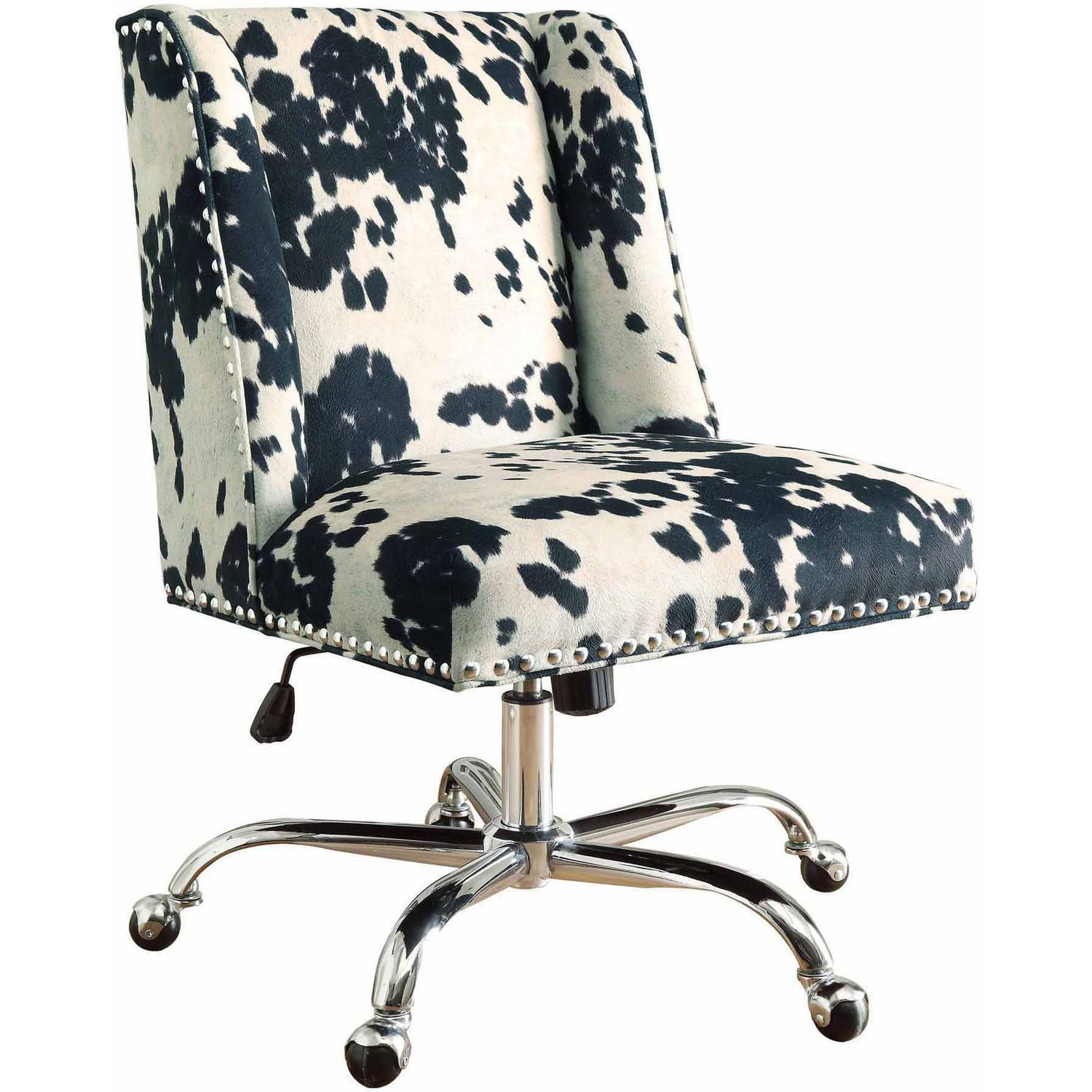 Linon Draper Office Chair, Multiple Finishes, 19.75 - 23.75 inch Seat Height