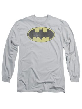 6c0b42a2 Product Image DC Comics Retro Bat Logo Distressed Adult Long Sleeve T-Shirt  Tee