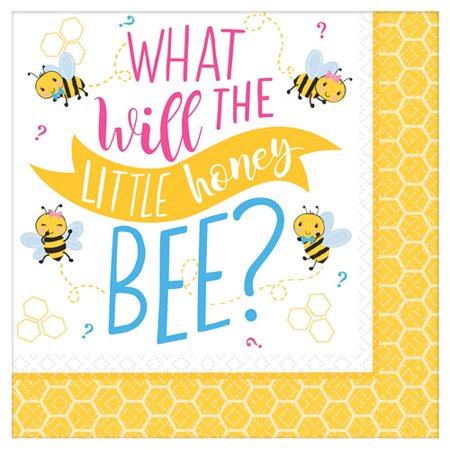 Baby Shower 'What Will it Bee?' Lunch Napkins (16ct) Baby Shower Lunch Napkins