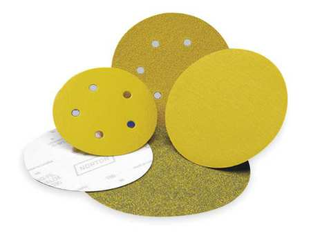 "Norton 03220 Hook and Loop Sanding Discs 5/"" Dia. P150 Grit"