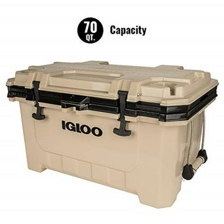 Igloo 70 Quart IMX Lunch Beverage Ice Cooler Tan/Black 00049858