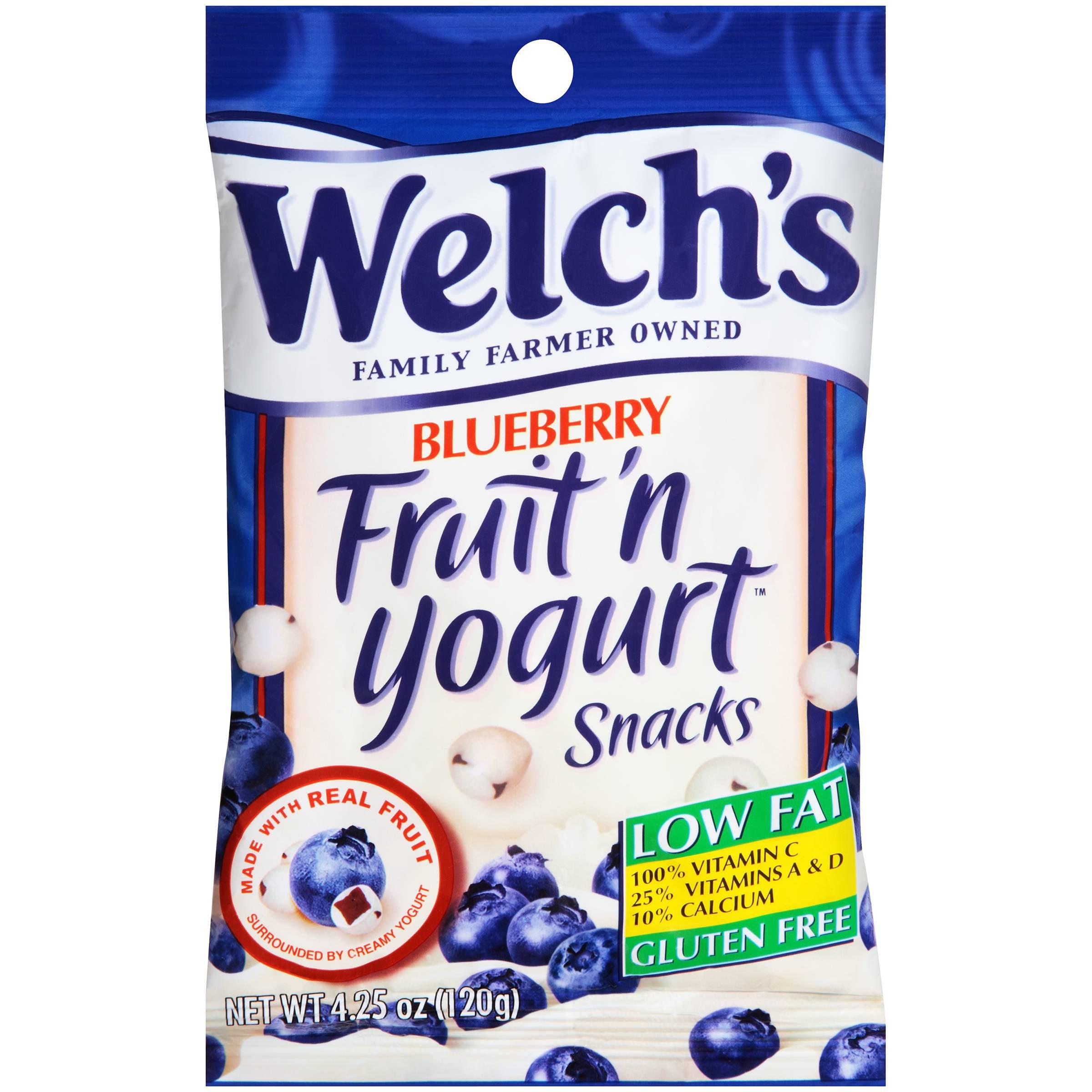 Welch's Fruit'n Yogurt Snacks Blueberry 4.25oz (PACK OF 12)