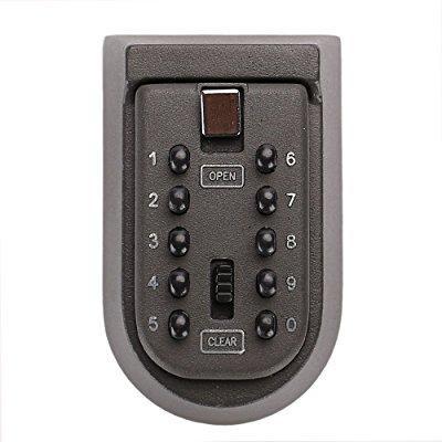 adir office push button combination permanent key lock box