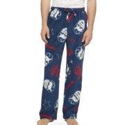 Mens Blue Fleece A Christmas Story Sleep Pants Holiday Pajama Bottoms