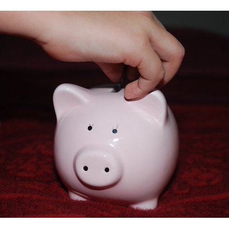 LAMINATED POSTER Savings Money Child Pink Piggy Bank Pig Poster Print 24 x 36 (Pink Pig Piggy Bank)