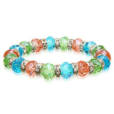 Image of Alexander Kalifano BLUE-BGG-03 Gorgeous Glass Bracelet - Multi-Colored