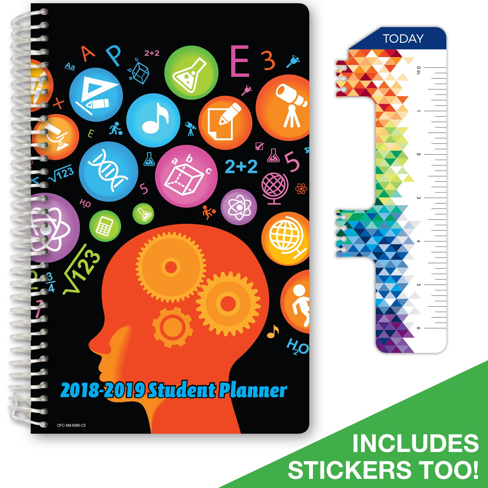 """2018-2019 Student Planner 5.5""""x8.5""""High School or Middle School for Academic Year 2018-2019 (Matrix... by Global Datebooks"""
