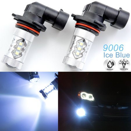 Xotic Tech 2x 80W Bright 10000K Ice Blue 9006 HB4 CREE LED Bulbs for DRL Fog Driving Lights