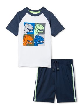 365 Kids from Garanimals Boys T-Shirt & Knit Shorts 2-Piece Outfit Set, Sizes 4-10