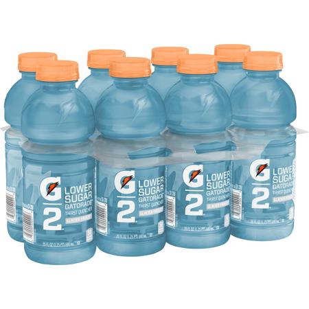 G2 Lower Sugar Gatorade Thirst Quencher Sports Drink  Glacier Freeze  20 Fl Oz  8 Count
