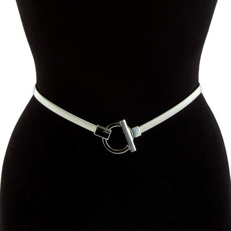 eVogues Plus size O-Ring Pendant Buckle Metal Elastic Waist Belt Silver (Best Plus Size Boutiques)