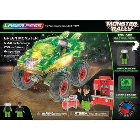 Laser Pegs Green Monster