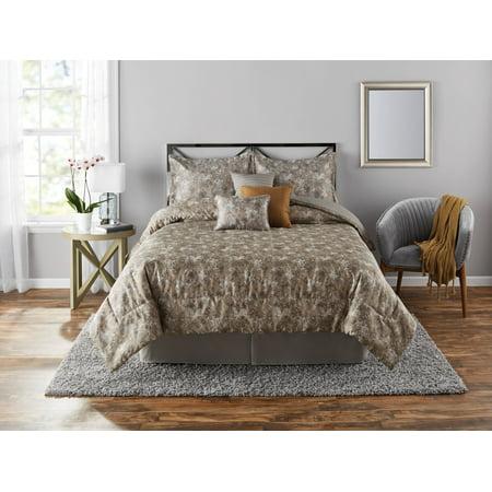 Mainstays Full or Queen Alessa Comforter Set, 7 Piece