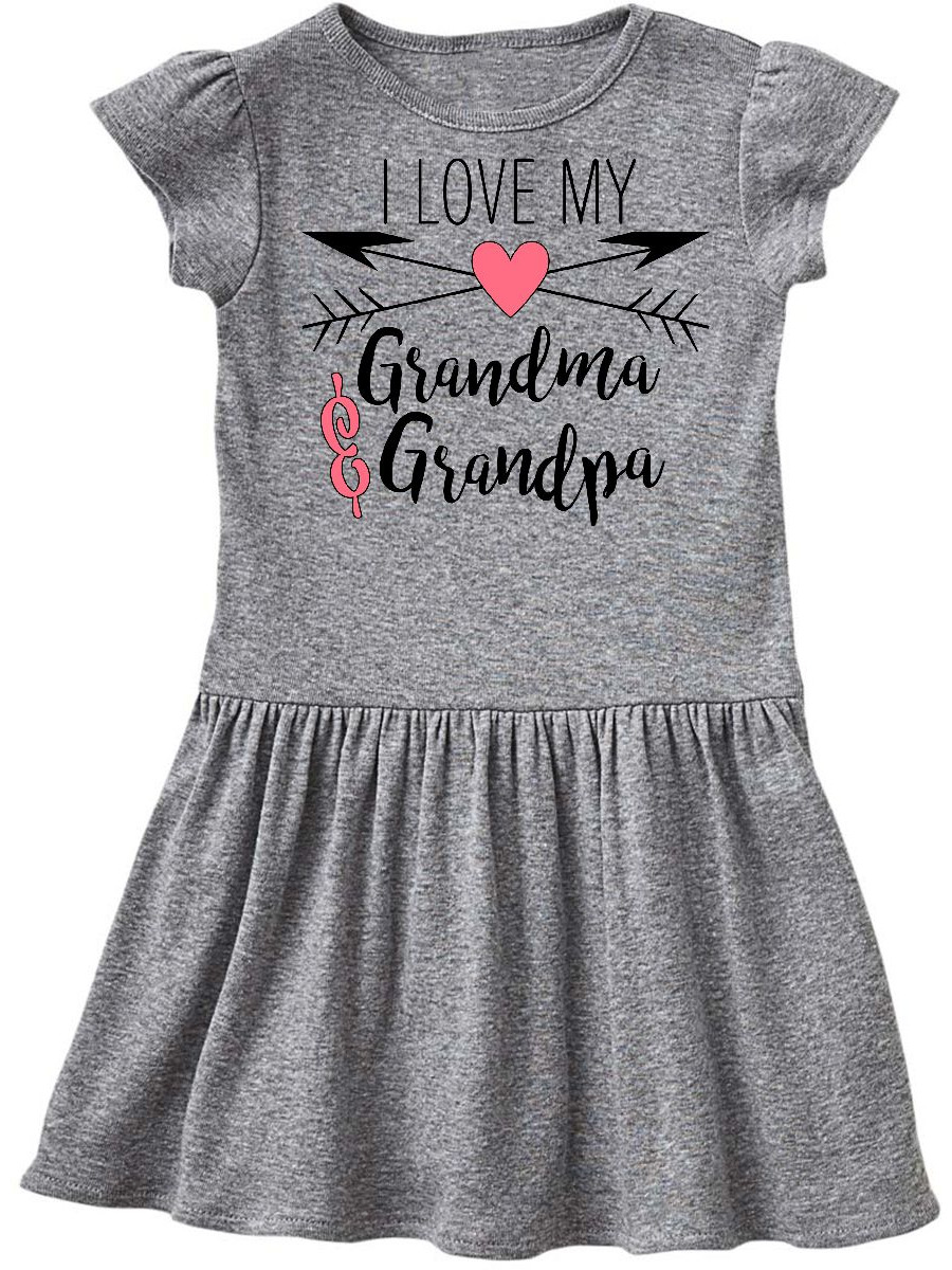 Inktastic I Love My Grandma And Grandpa Heart And Arrows Baby Bib Arrow Gift