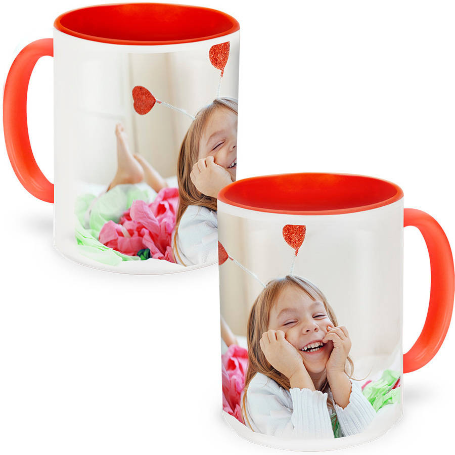 Red Photo Mug 15 oz
