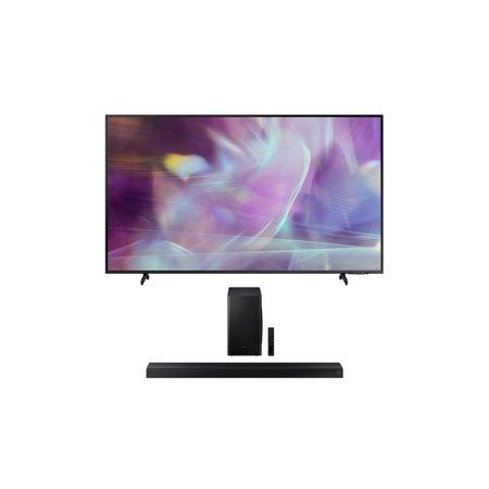"Samsung QN50Q60AA 50"" QLED Q60 Series 4K Smart TV Titan Gray with a Samsung HW-T650 Bluetooth Soundbar with Dolby Audio Wireless Subwoofer (2021)"