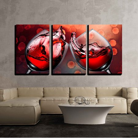 - wall26 - Red Wine Glass Cheers - Canvas Art Wall Decor - 16