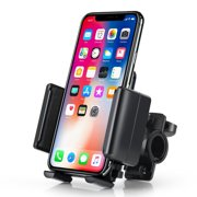 Insten Bike Phone Holder Bicycle Phone Mount Handlebar Bracket for Smartphone iPhone XS X 8 7 6 Plus 6S SE/ Samsung Galaxy S10 S10e S9 S8 Plus Edge Note 8 / LG K20 Stylo 4 Adjustable Universal
