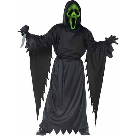 Scream Lite-Up Ghost Face Boys' Child Halloween Costume](Easy Halloween Faces)