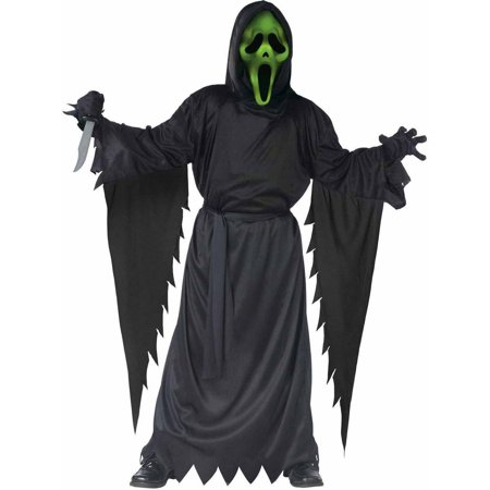 Scream Lite-Up Ghost Face Boys' Child Halloween Costume](Halloween Saw Face)