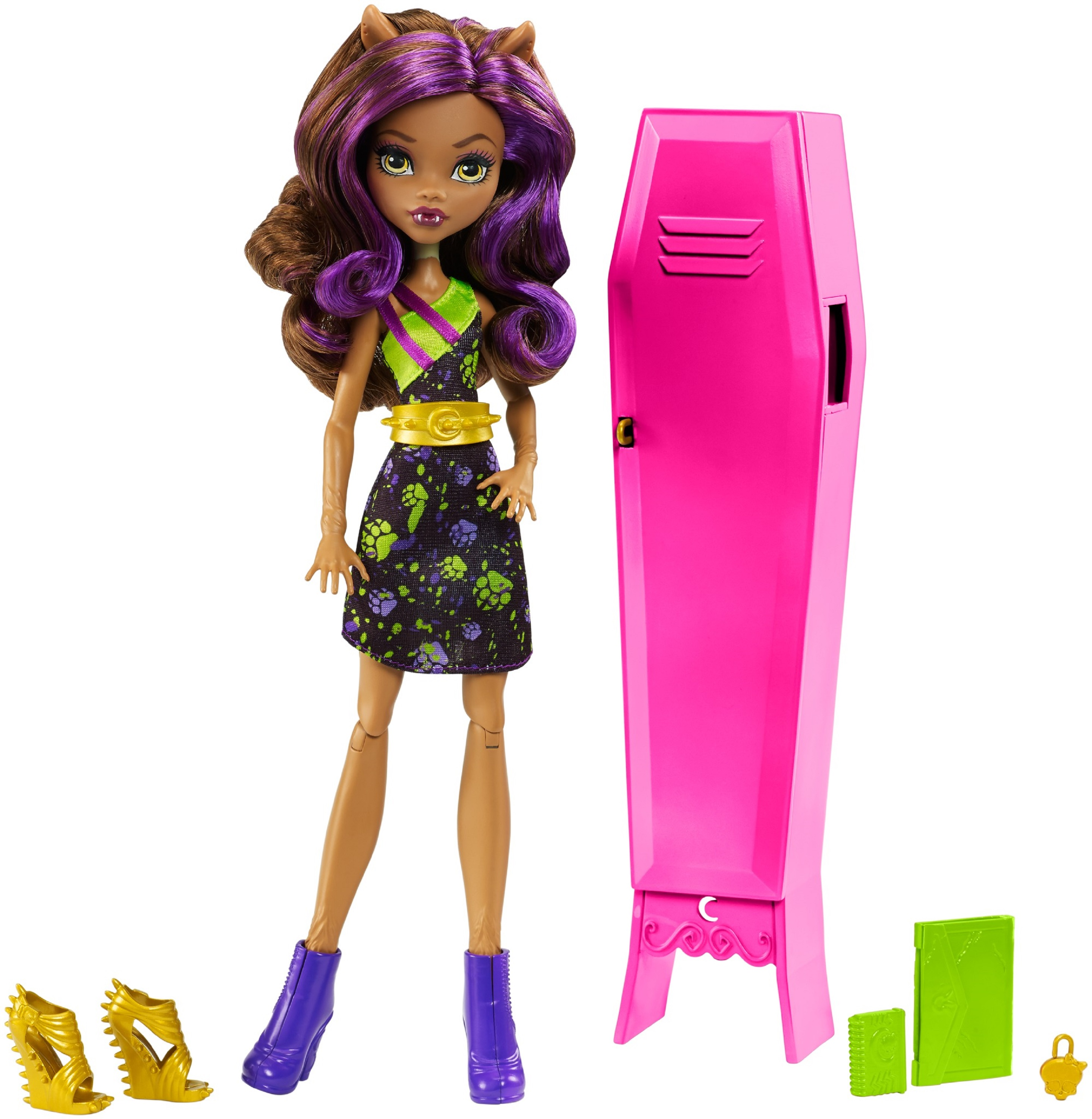 Monster High Clawdeen Wolf Doll & Ghoul-la-la Locker Playset