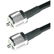 Times Microwave LMR-240 PL-259 HF/VHF/UHF Coaxial Cable Ham or CB Radio Antenna Cable  - 25 ft