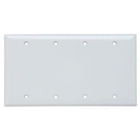 Wall plate 4g 4 blank white pass and seymour wall plates for Four blank walls