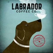 Printfinders ''Labrador Coffee Co.'' by Ryan Fowler Graphic Art on Canvas