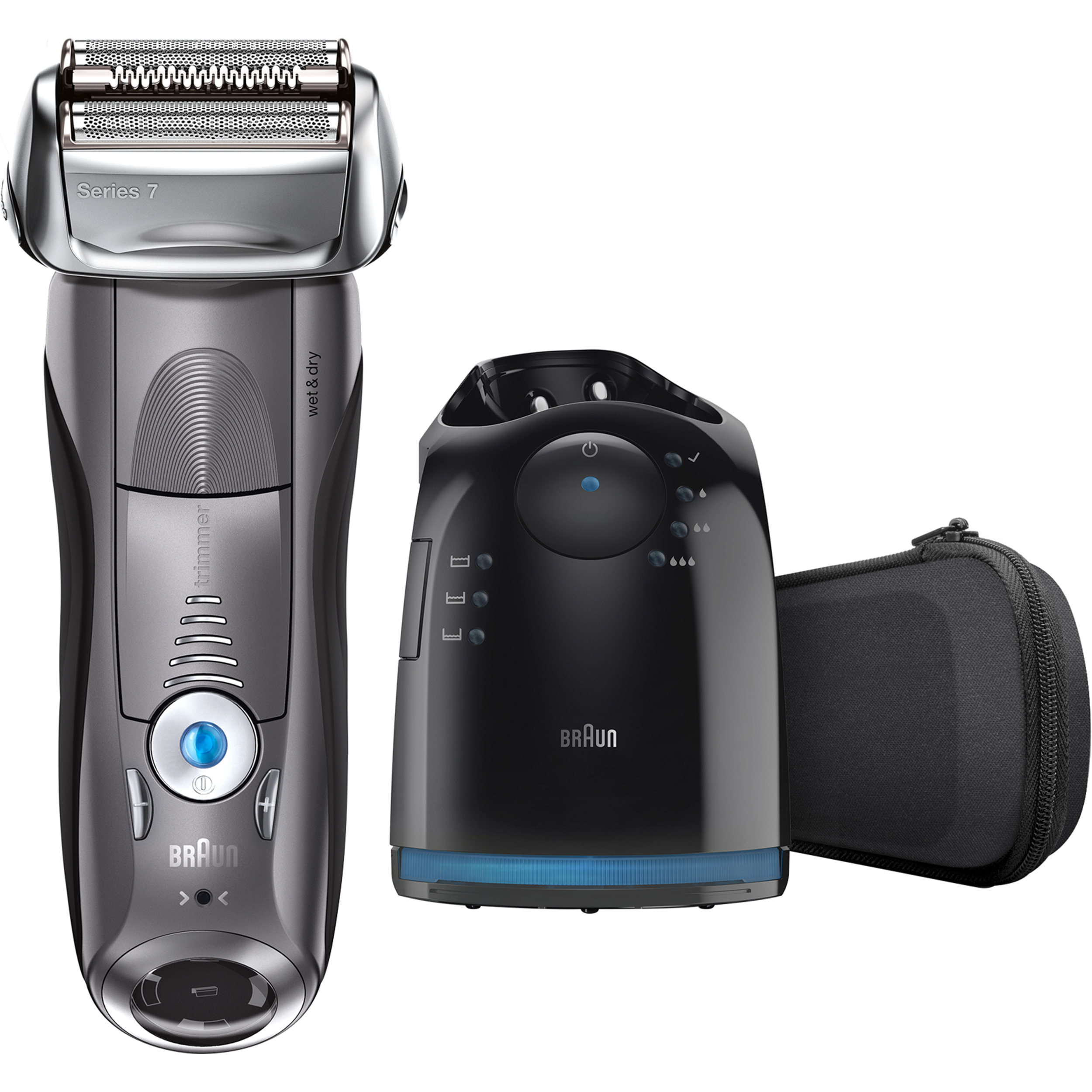 Braun Series 7 790cc ($30 Rebate Available) Men's Electric Foil Shaver, Rechargeable and Cordless Razor with Clean & Charge Station
