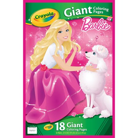 Crayola Giant Coloring Pages, Barbie, 18-Count - Walmart.com