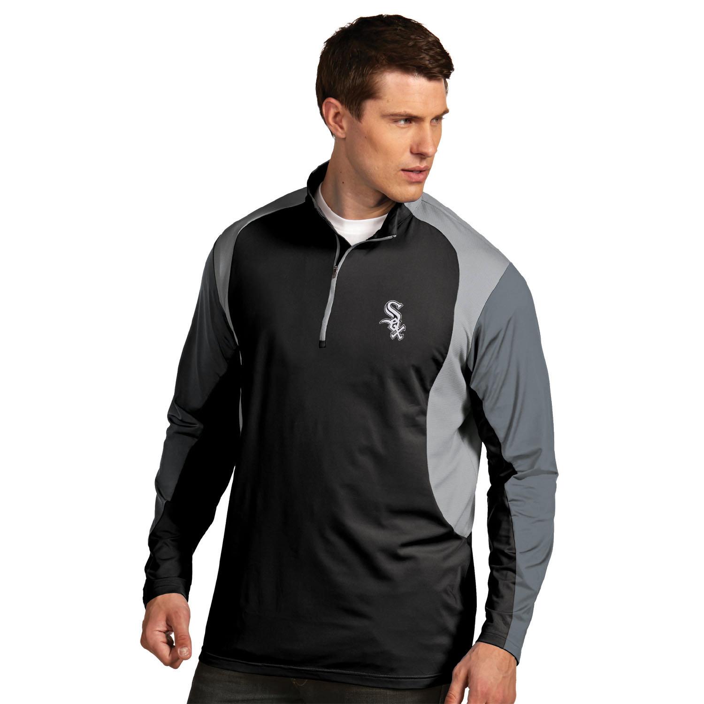 Men's Antigua Black Chicago White Sox Beta Pullover Jacket