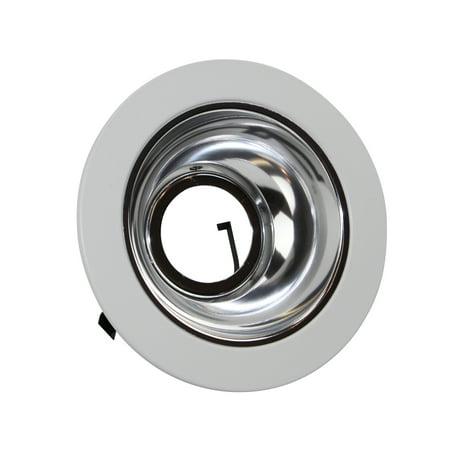 Elite Lighting 4 Low Voltage Trims White Chrome Reflector B1402
